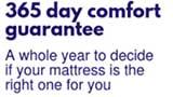 365 Day Comfort Satisfaction Guarantee