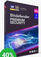 Bitdefender Premium Security Coupon Code, 40% discount