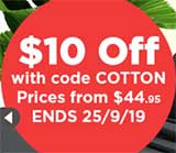 $10 Off Corinna Cotton Sheets