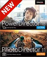 Cyberlink PowerDirector 18 + PhotoDirector 11 Coupon Code, 15% discount & deals