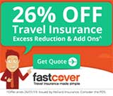26% off Travel Insurance excess reduction & add ons